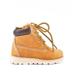 Camel child boot with lace