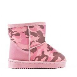 Pink girl's bootie