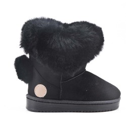 Black girl bootie with pompon on the back