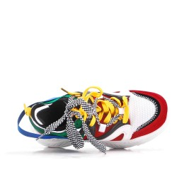 Multicolored basket with notched sole