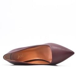 Escarpin rouge en simili cuir à talon