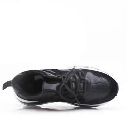 Basket noire à semelle bulle d'aire