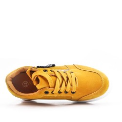 Yellow lace-up tennis