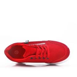 Tenis rojo con cordones