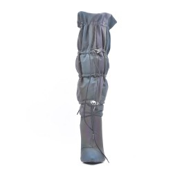 Pleated boot with stiletto heel