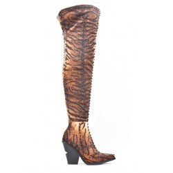 Thigh-high suede faux suede thigh boots