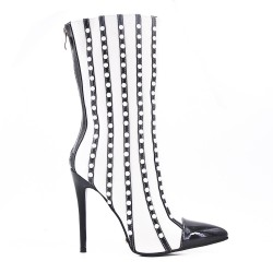 Ankle boot with pearl and stiletto heel