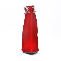 Botines de diamantes de imitación con tacón de aguja