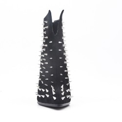 Black Ankle Boot with Stiletto Heel