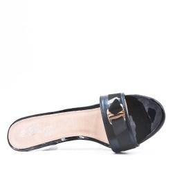 Big size 38-42 -Black Black bow tie with heel