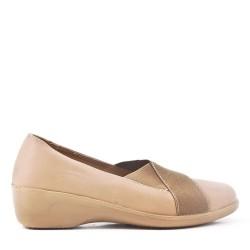 Chaussure confort rouge en simili cuir