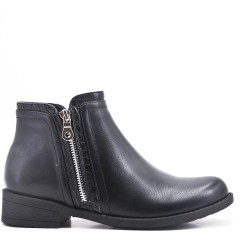 Bottine noir en simili cuir