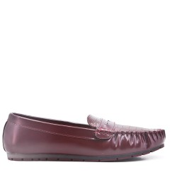 Moccasin in red wine faux leather