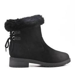 Classic ankle boots with fur