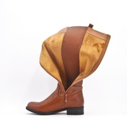 Leather imitation boots