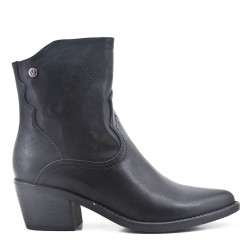 Ankle boot with faux leather