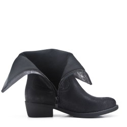 Faux leather ankle boot