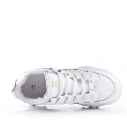 Lace-up sneaker with thick sole