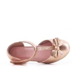 Ballerine fille en simili cuir