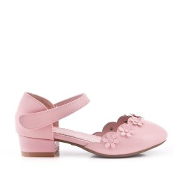 Girl's ballerina in faux leather
