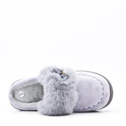 Winter fur slipper