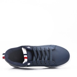Basket à lacet bleu