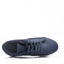 Blue lace-up basket
