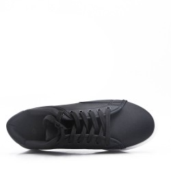Black lace-up basket