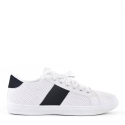 Basket à lacet blanche et noir