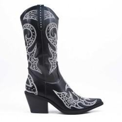 Leather imitation boots