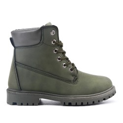 Green boot with lace