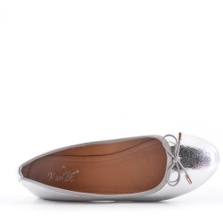 Faux leather ballet flat