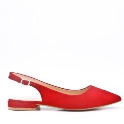 Zapato de salón plana con espalda abierta