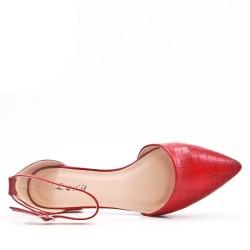 Sandalias de piel sintética con tacones bajos