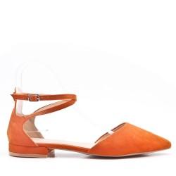 Low heels faux suede sandals