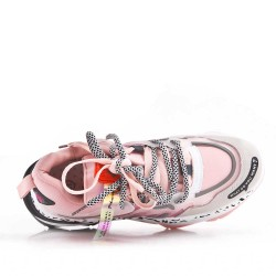 Basket à lacet en simili cuir pour femme