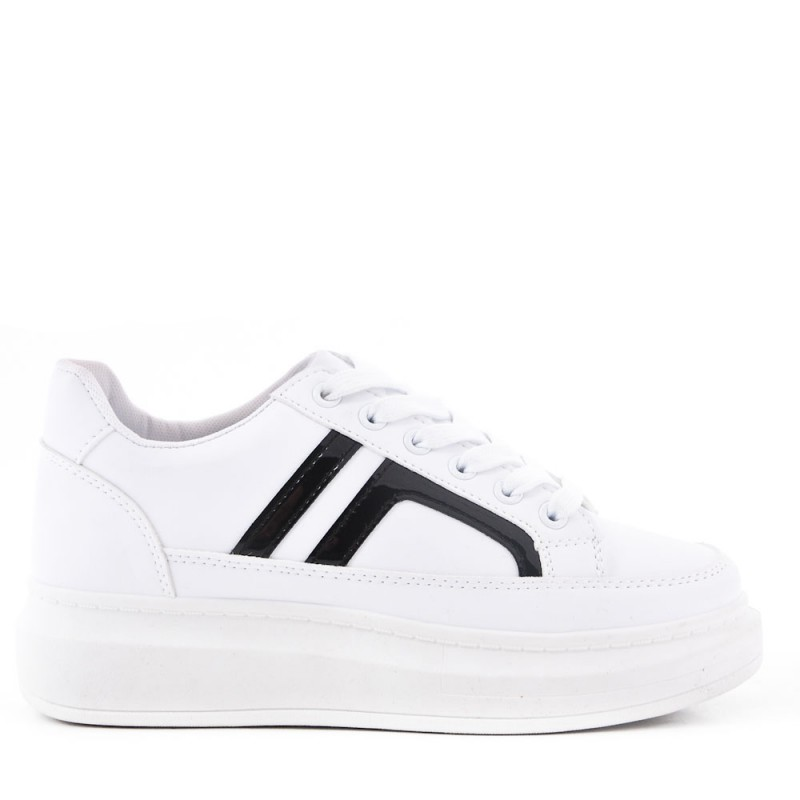 women's white faux leather sneakers