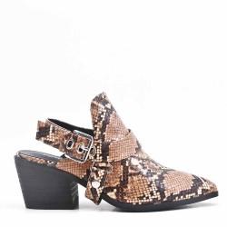 Mules à talon chaussures femme