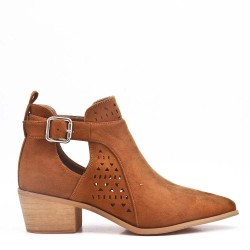 Spring Summer heeled ankle boots women shoes