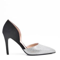 Zapatos de tacón alto en una mezcla de materiales para mujeres