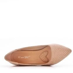 Zapatos de tacón de mujer de gamuza sintética