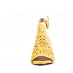 Sandalia de tacón de ante para mujer