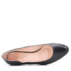 Faux leather ballet flat