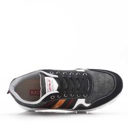 Zapatillas de baloncesto para hombre con cordones de materiales mixtos