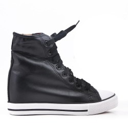 Tennis shoes with 5 cm inner heel imitation leather