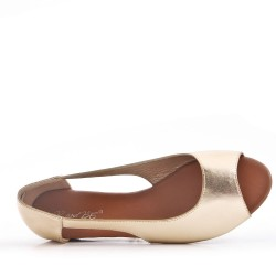 Comfort ballerina in faux leather