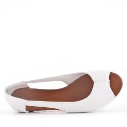 Ballerine confort en simili cuir