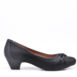 Medium heel pumps in faux leather for women