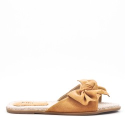 Slip-on espadrille sole in faux suede
