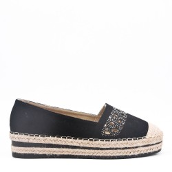 Wedge espadrilles in material mix for women